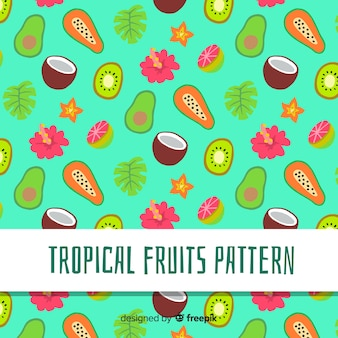 Wzór owoców tropikalnych