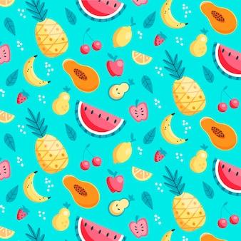 Wzór owoców z ananasem