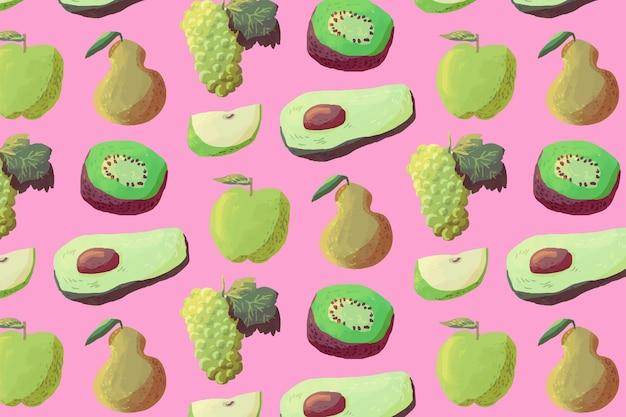 Wzór owoców z awokado