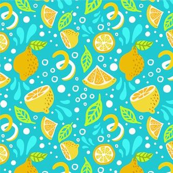 Wzór owoców z cytrusami