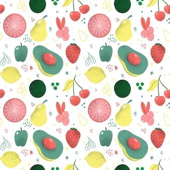 Wzór owoców z gruszkami