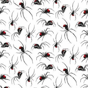 Wzór pająka czarnej wdowy