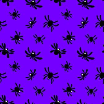 Wzór pająka na fioletowym tle