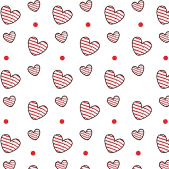 Wzór paski serca