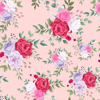 Wzór piękny kwitnący kwiatowy