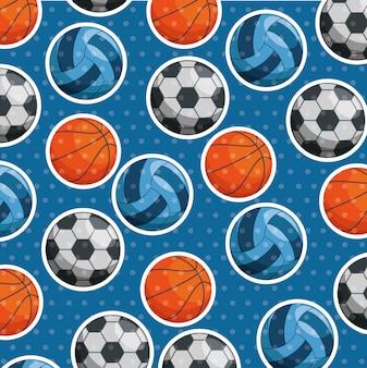 Wzór piłek sportowych