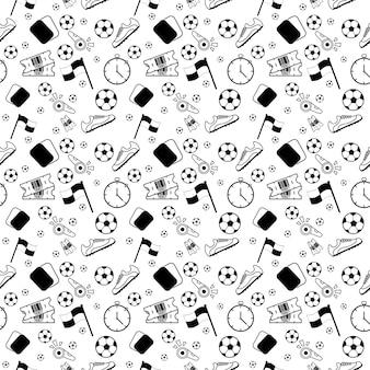 Wzór piłkarski lineart