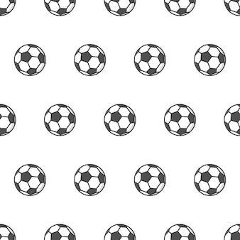 Wzór piłki nożnej. ilustracja tematu piłki nożnej