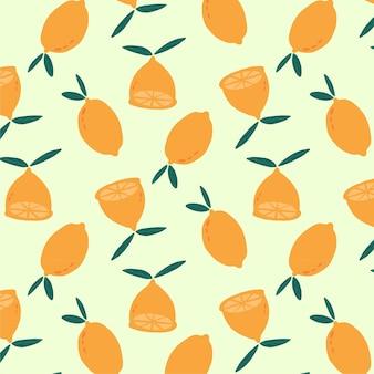 Wzór plasterka cytryny na lato