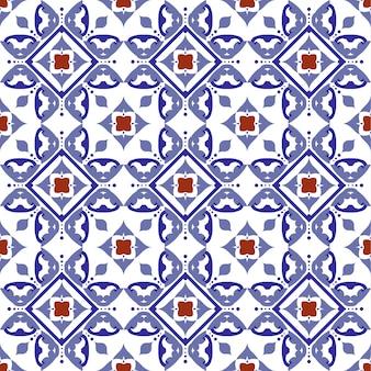 Wzór płytki, ceramiczne kafelki z kolorowym patchworkiem w stylu tureckim
