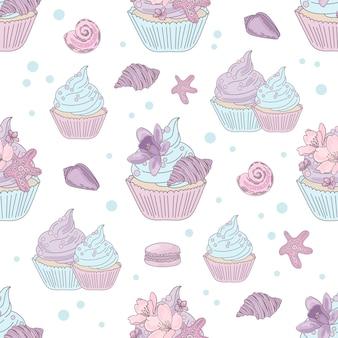 Wzór podwodny i ciastko