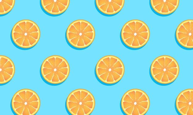 Wzór pomarańczowy owoc.