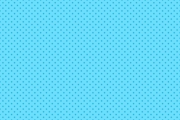 Wzór pop-artu. komiks bezszwowe tło z kropkami. niebieski nadruk z efektem półtonów. retro tekstura