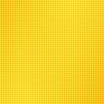 Wzór pop-artu. komiks kropkowany tło z dymek. żółty nadruk w kółka. sztuka tekstura kreskówka. nadruk superbohatera z efektem półtonów. tło bichromii. ilustracja wektorowa.