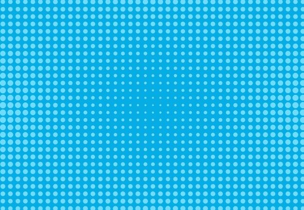 Wzór pop-artu. komiks tło rastra. niebieska kropkowana tekstura. kreskówka retro nadruk