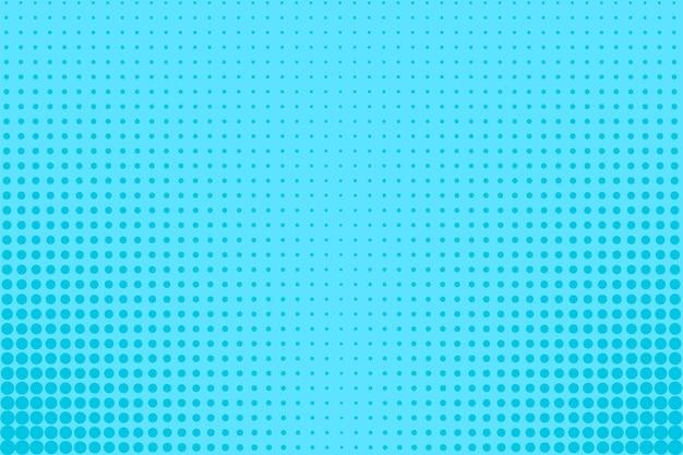 Wzór pop-artu. komiks tło rastra z kropkami. niebieski nadruk z efektem półtonów. retro tekstura kreskówka. ilustracja wektorowa. streszczenie nowoczesne bichromii tło.