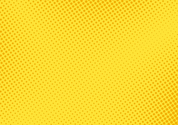 Wzór pop-artu półtonów. komiks żółty tekstura. ilustracja wektorowa.
