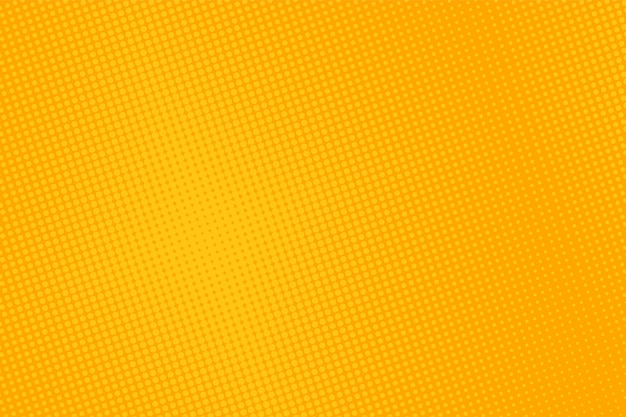 Wzór pop-artu półtonów. żółte tło komiks.