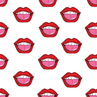 Wzór pop-artu usta