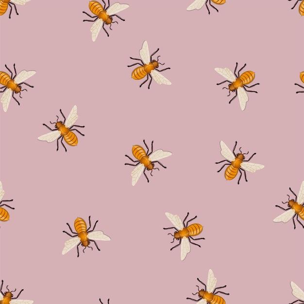 Wzór pszczół miodnych.