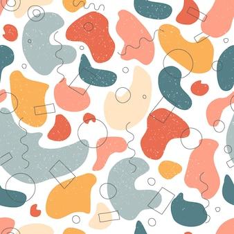 Wzór. ręcznie rysowane różne kształty i obiekty bazgroły. streszczenie współczesnej nowoczesnej modnej ilustracji wektorowych. tekstura stempla.