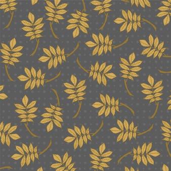Wzór rocznika złoty liść.