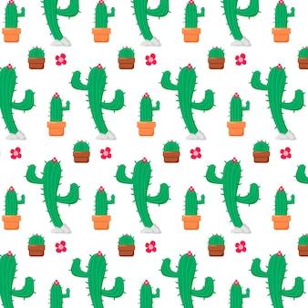 Wzór różnych kaktusów