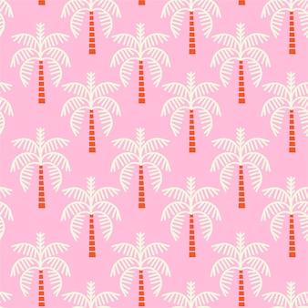 Wzór różowe palmy