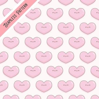 Wzór różowe serca na walentynki
