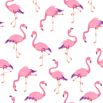 Wzór różowy flamingi bez szwu