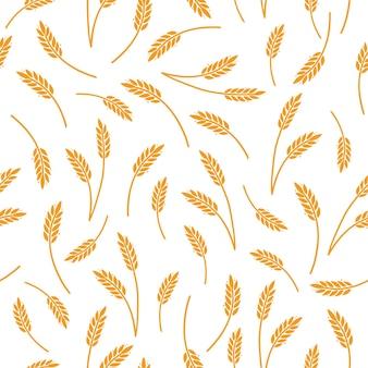 Wzór ryżu jęczmiennego pszenicy na zboża