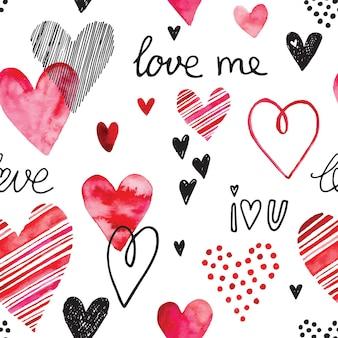 Wzór serca, bezszwowe tło wektor. może służyć na zaproszenie ślubne, kartkę na walentynki lub kartkę o miłości.