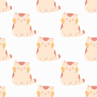 Wzór ślicznych kotów