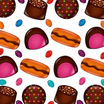 Wzór słodkich cukierków