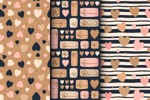 Wzór słodkie serca na walentynki