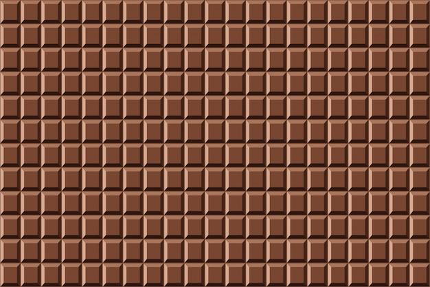 Wzór słodkiej czekolady bez szwu