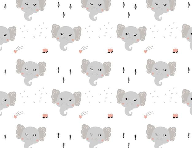 Wzór słonia na element baby shower