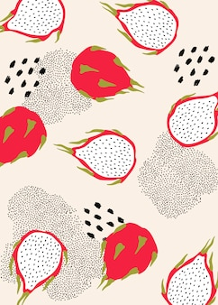 Wzór smoczych owoców