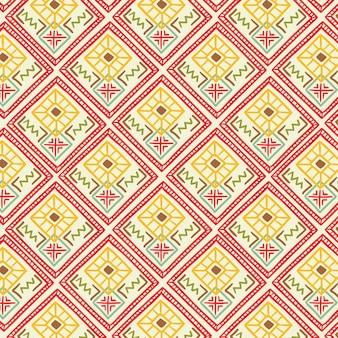Wzór songket z dekoracyjnymi kształtami