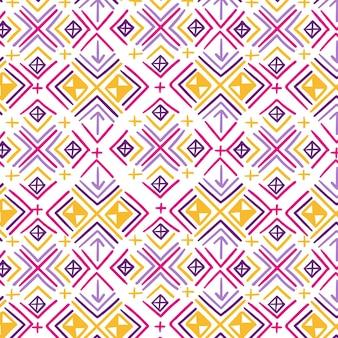 Wzór songket z kolorowymi kształtami
