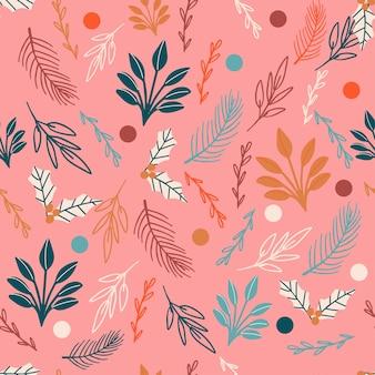 Wzór świątecznej piłki do pakowania tkanin lub papieru cyfrowego modne kolory ręcznie rysowane kulki