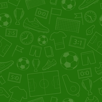 Wzór symboli piłki nożnej w zielonych kolorach