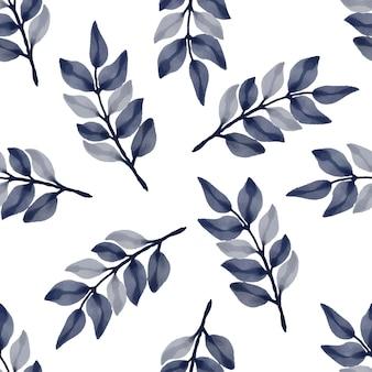 Wzór szare liście