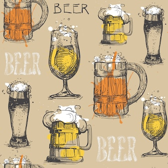 Wzór szklanka piwa