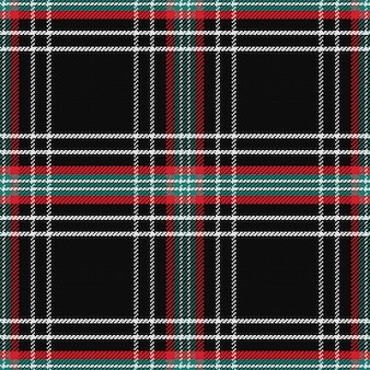 Wzór szkocka kratę czarny