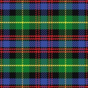 Wzór szkockiej kraty czarny zegarek