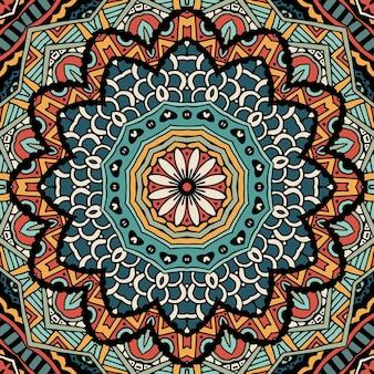 Wzór sztuki plemiennej etniczny geometryczny nadruk