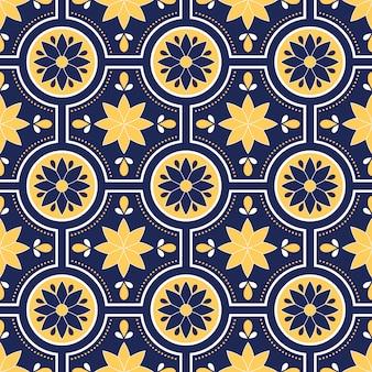 Wzór talavera, azulejos portugalia, marokański kafelek