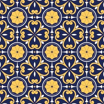 Wzór talavera, portugalia azulejos, płytki marokańskie