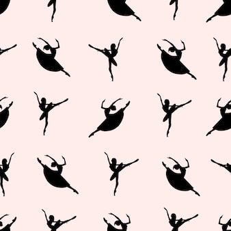 Wzór tancerzy baletowych.